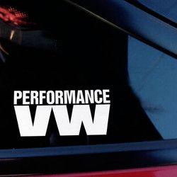 2018 Nouveau Top Fashion Mots Performance VW Autocollant De Voiture De Réflexion Bombe Autocollants Autocollant Voiture pour Volkswagen Tiguan Golf 6
