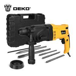 DEKO GJ180 220 V 26mm 4 Fonctions AC Électrique Rotatif Marteau avec BMC et 5 pcs Accessoires Perceuse à Percussion Perceuse Électrique forage