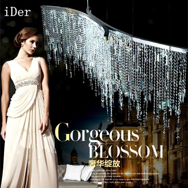 Led Italienische luxus kristall Kronleuchter Lichter modell zimmer nach die moderne einfach Nordic schlafzimmer restaurant kristall lampe