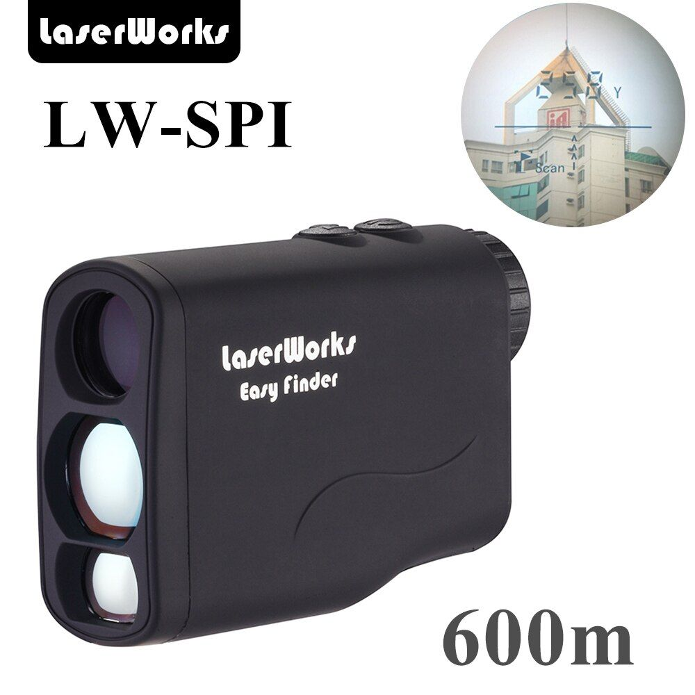 LaserWorks LWSPI Laser Rangefinder 1500m/1000m/600m/450m laser distance meter best price long distance for hunting
