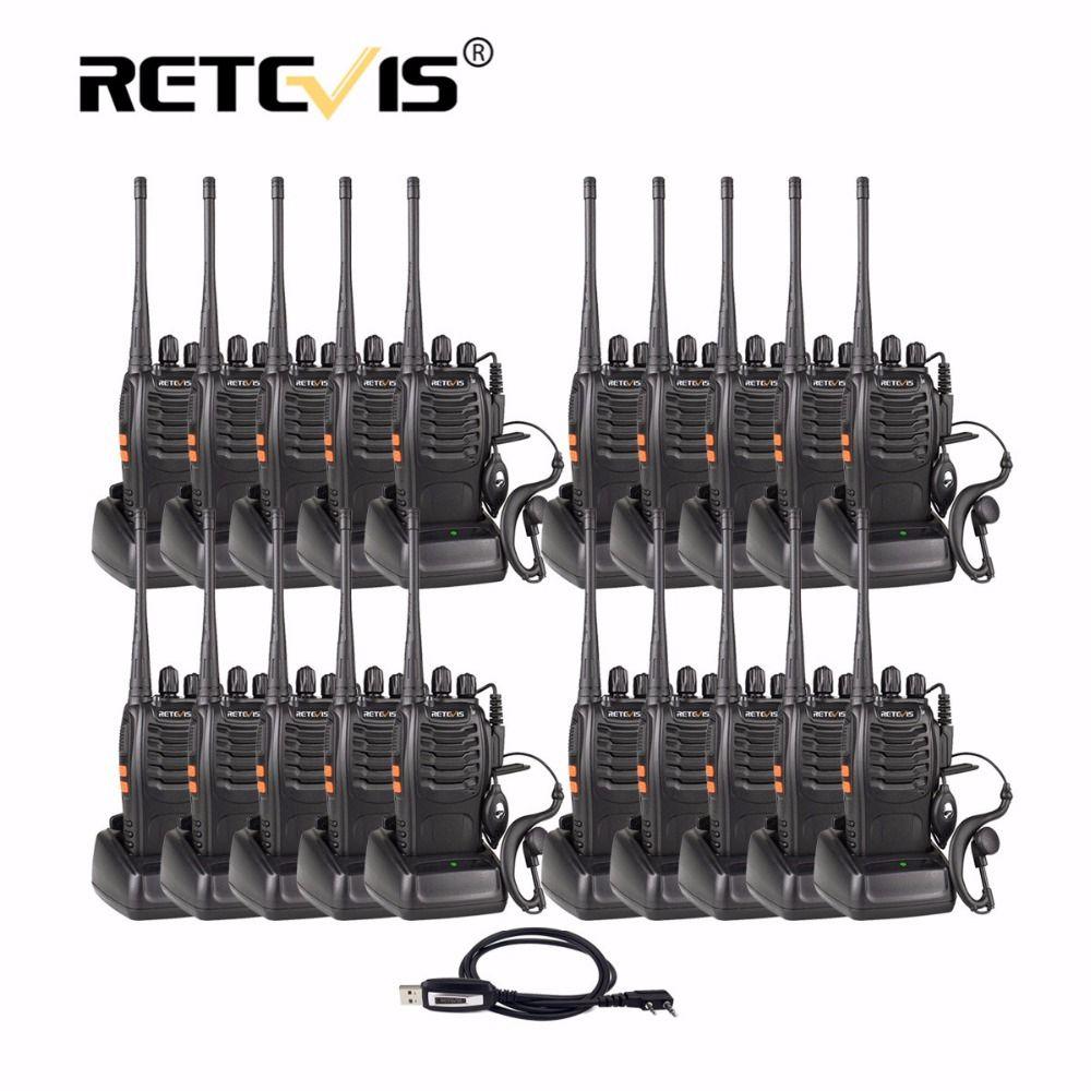 20 stücke Retevis H777 Tragbare Walkie Talkie 3 Watt UHF 400-470 MHz Handheld Hf Transceiver Zweiwegradio Communicator Ham Radio Station