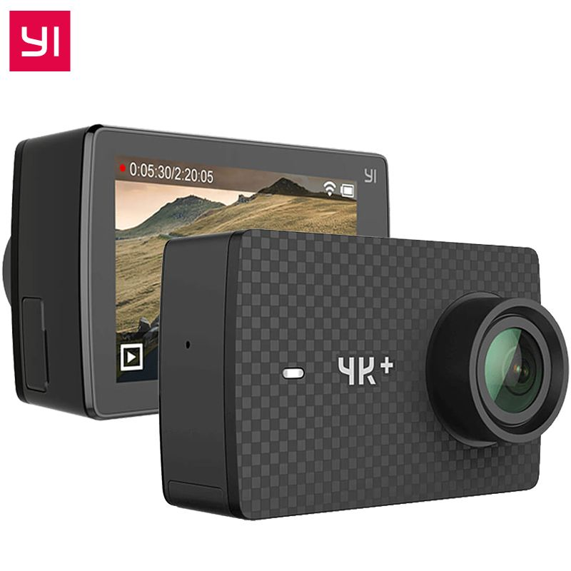 Original YI 4K Plus Action Camera 2.19' Ambarella H2 for SONY IMX377 12MP 155 Degree 4K Ultra HD YI 4K+ Sports Action Camera