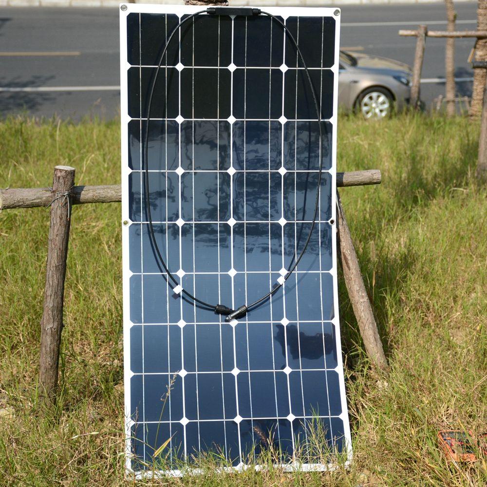 2pcs/4pcs Mono 20V 100W Flexible Solar Panel Modules for Fishing Boat Car RV 12V Battery Solar Charger 36 Solar Cells 100W