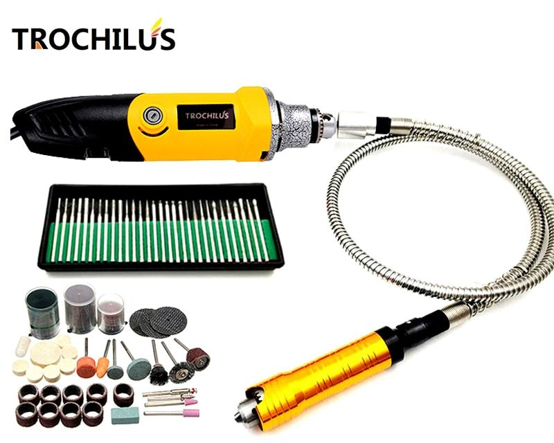 Troutilus 400W Mini Grinder DIY Electric Rotary Grinding Tools Electric Engraver Dremel mini drilling Electric Tool kits
