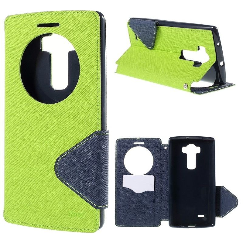 ROAR KOREA for LG G Flex 2 Case Smart View Window Leather Flip Kickstand Cover Cases for LG G Flex2 H955 LS996 with Card Slot