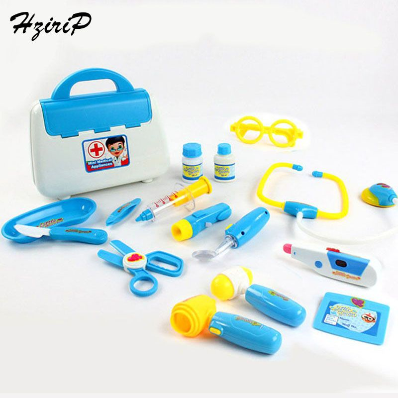15Pcs Doctor Toys Kids Pretend Play Toys Set For Children Doctor Set <font><b>Medicine</b></font> Box Role Play Educational Baby Toy Doctor Kit