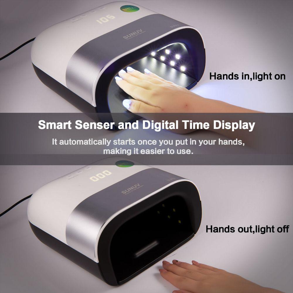 SUN3 48 watt UVLED Nagel Lampe Mit Sensor Beruf Smart LED Doppel Licht Schnelle Trocknen Aushärtung Nail Werkzeuge für Alle UV Gel Nagellack