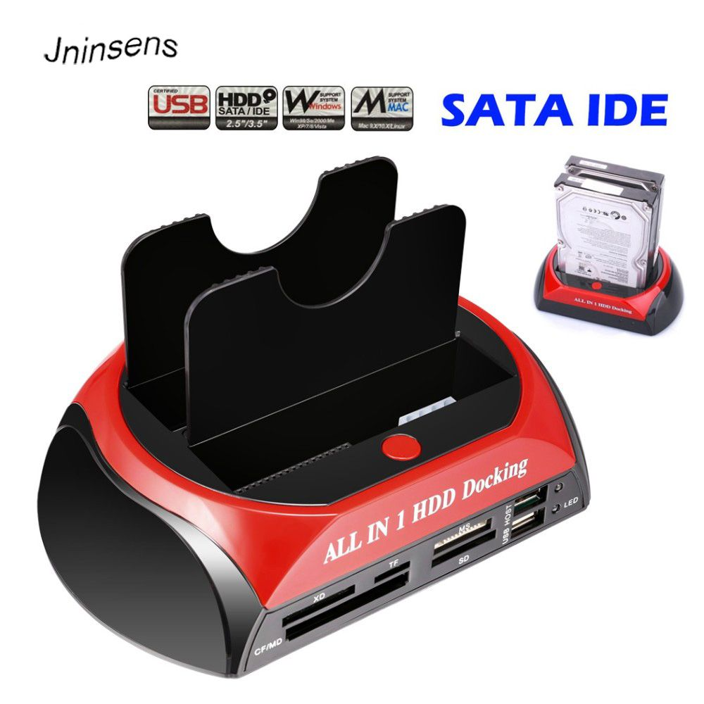 High Quality All in 1 HDD Docking Station Dual Double 2.5