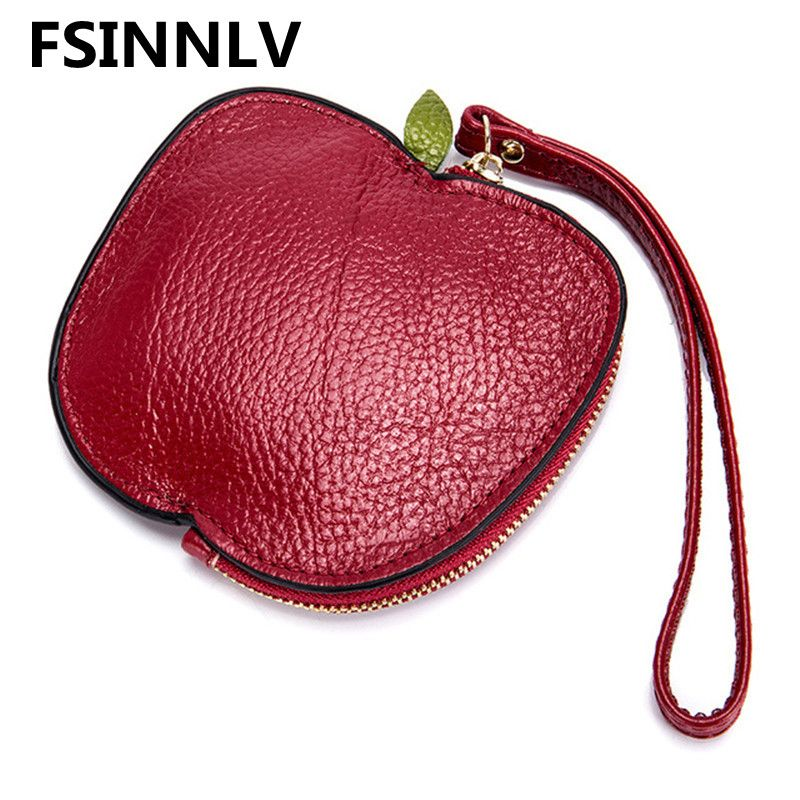 FSINNLV 2018 Women Wallet Genuine Leather Coin Purse Key Holder Day Clutch Card Holders Travel Organizer Women Storage Bag DC329
