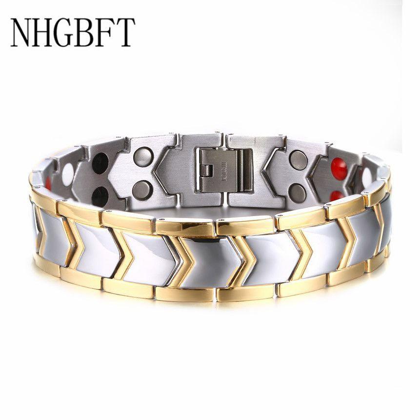 NHGBFT haute qualité hommes bracelet magnétique sain nouvelle mode Bio énergie bracelets magnétiques et bracelets livraison directe