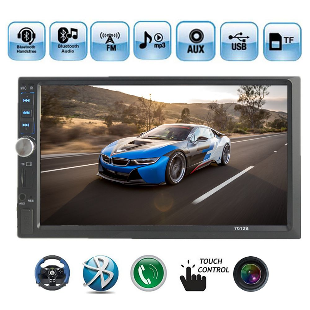 2 Din Car Stereo Radio Player 7 inch HD In Dash Touch Screen Bluetooth Car mp5 Player Support rear camera FM/USB/AUX in