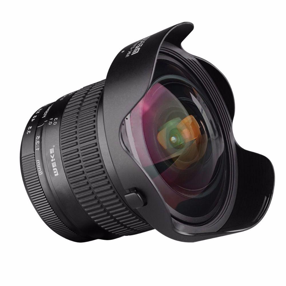 Meike 8mm f/3.5 Wide Angle Fisheye Camera Lens for Nikon D3400 D3200 D5500 D5600 D7000 D7100 DSLR Cameras with APS-C/Full Frame
