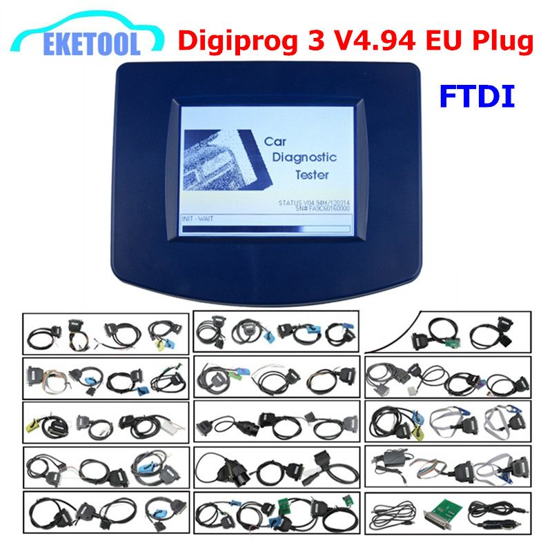 Volle Chip FTDI Neueste Digiprog 3 V4.94 Programmierer 2018 Multi-Sprache Entfernungsmesser-korrektur Digiprog3 DIGIPROG III V4.94