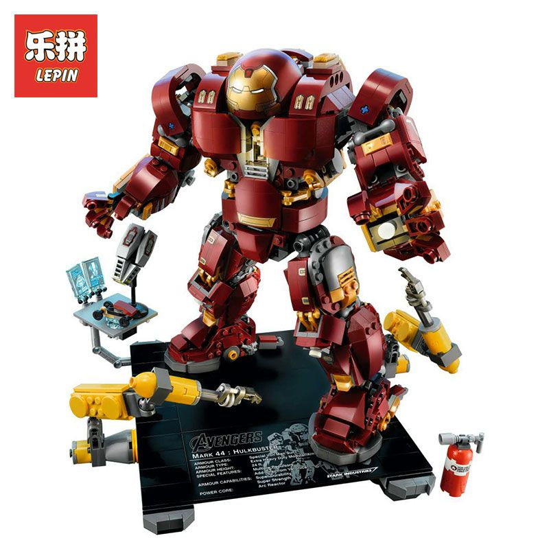 LEPIN 1527Pcs 07101 GenuiCompatible with LegoINGlys 76105 Iron Man Anti Hulk Mech Builne Super Hero ding Bricks Marvel Avengers