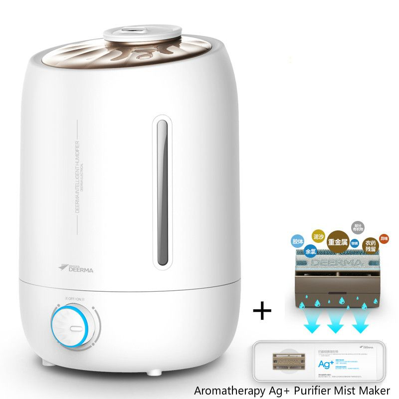 5L 350ML / H Air Purifier Air Purifier Aroma Oil Diffuser Ionizer Generator Aromatherapy Ag + Purifier Mist Maker