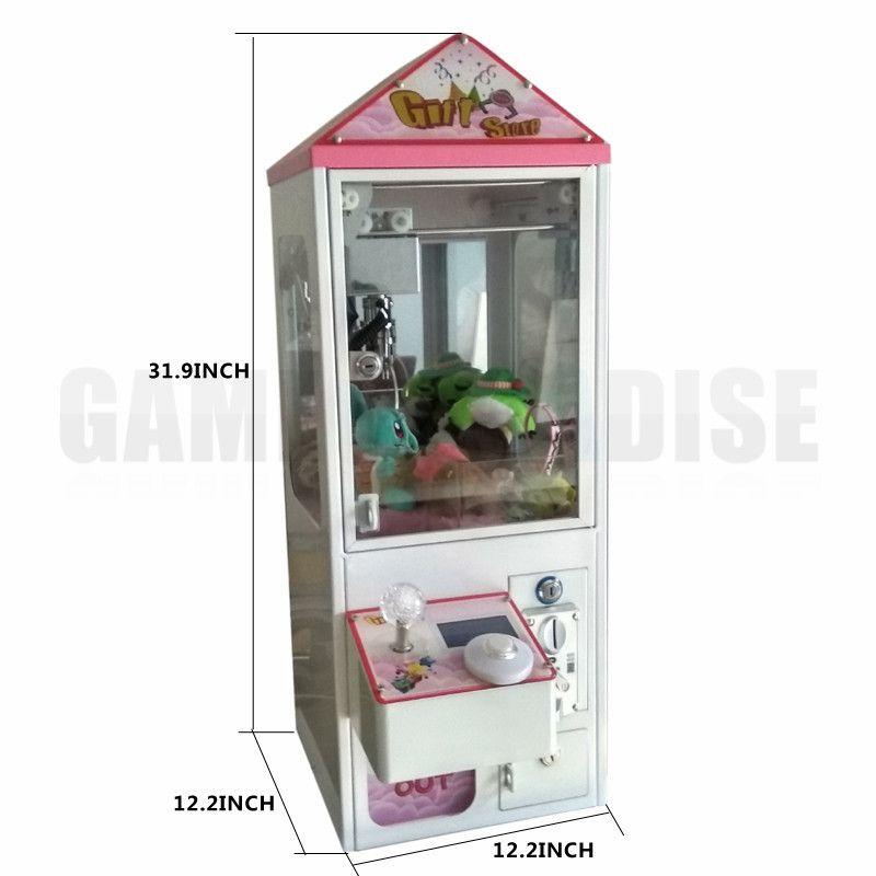 Bartop Mini Arcade Klaue Kran Maschine candy spielzeug catcher maschine mit münz Für Verkauf 5 jahre garantie