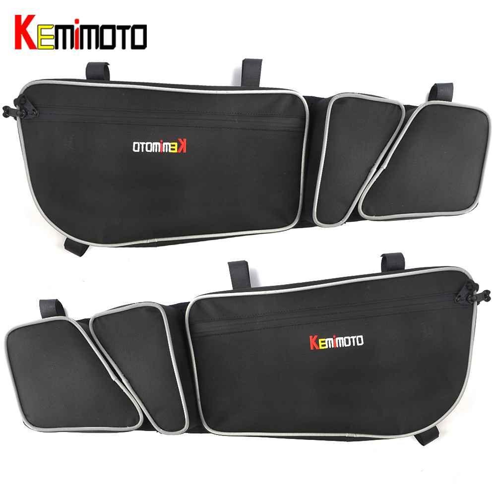 KEMiMOTO UTV Tür Taschen Passagier Und Fahrer Seite Lagerung Tasche Knie Pad für Can Am Maverick X3 Max R Turbo DPS 4x4 2017 2018