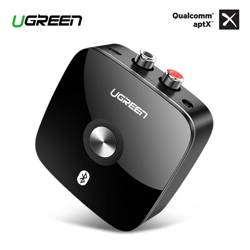 Ugreen Bluetooth RCA Empfänger 4,2 aptX 3,5mm Jack Aux Audio Wireless Adapter Musik für Kopfhörer Auto 2RCA Bluetooth Empfänger 3,5