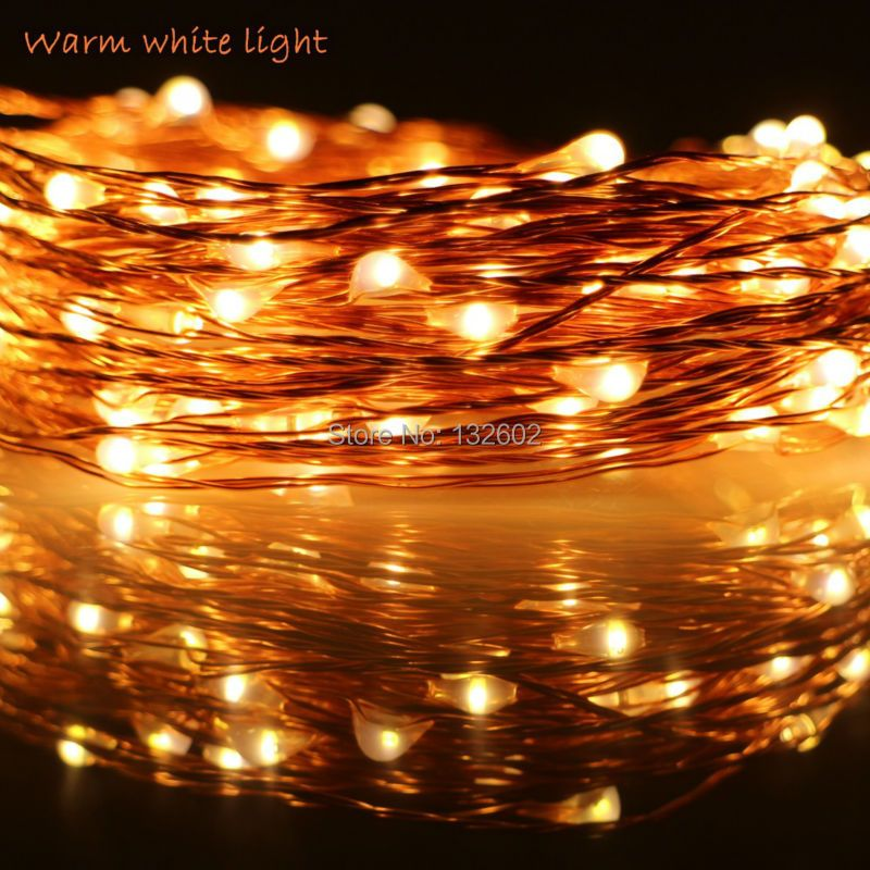 6m/10m/12m/20m 5Modes 6AA Battery Operate LED String Lights Outdoor Waterproof Copper Wire Starry Christmas Fairy Lights