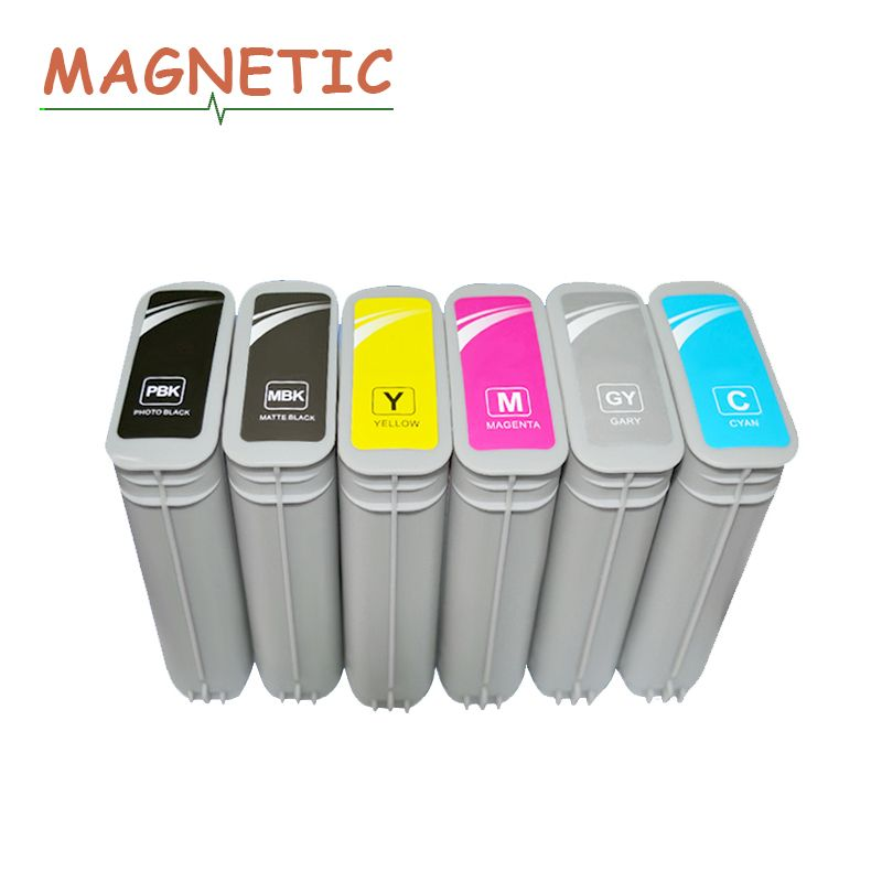 6x Magnetic Compatible Ink Cartridge For HP 72 Full Ink For HP Designjet T610 T770 T795 T1100 T1120 T1200 T1300 T2300 printer