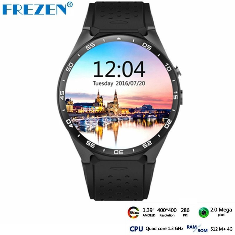 Frezen Горячие Kingwear kw88 Android 5.1 Смарт часы-1.39 дюймов 400*400 SmartWatch телефон Поддержка 3G WI-FI Nano SIM сердечного ритма PK X200