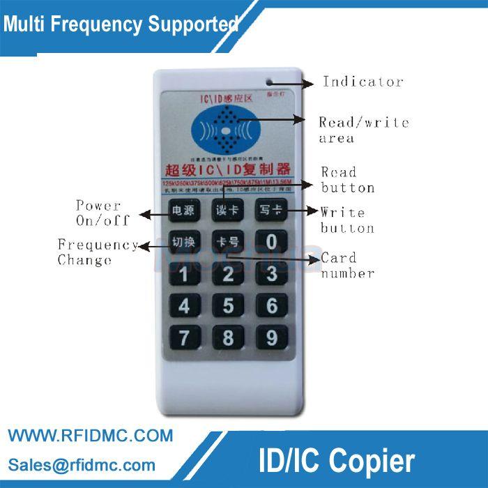 Handheld 125 Khz-13,56 MHZ RFID Copier Duplicator Cloner Rfid-kartenleser & writer