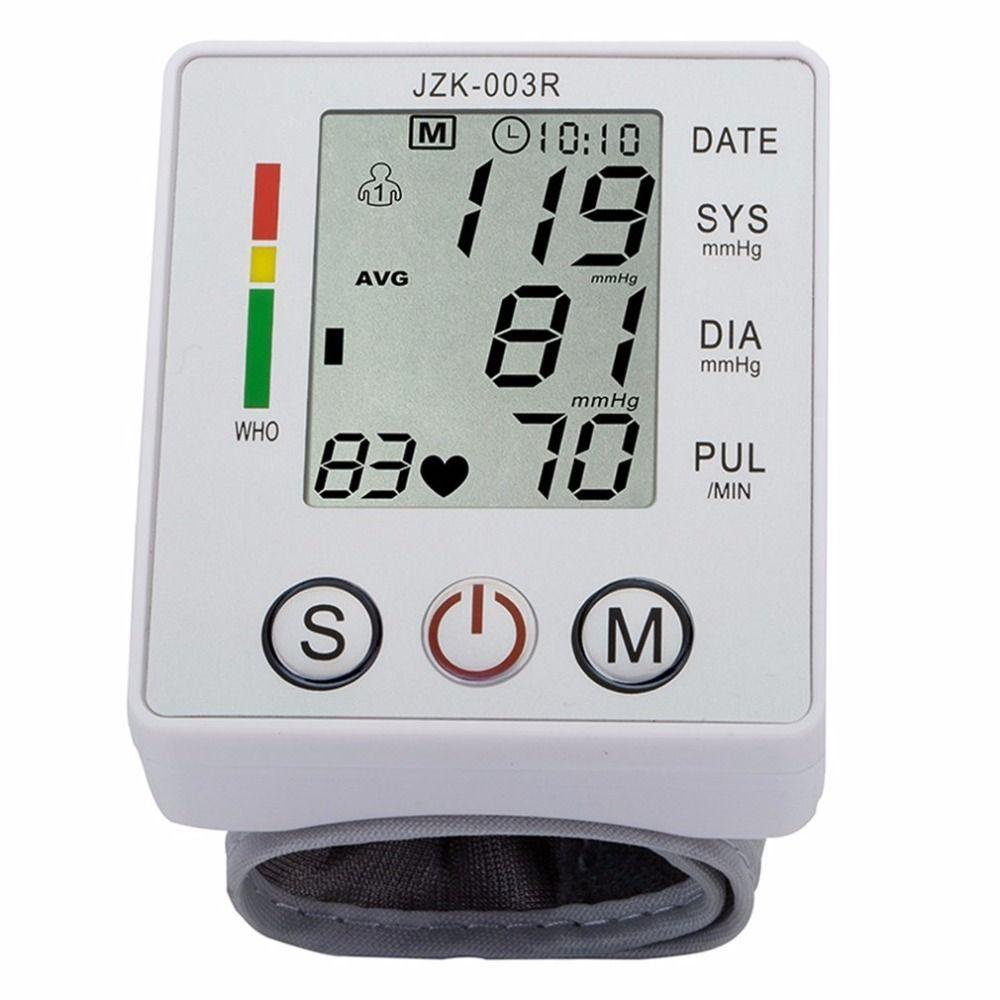 Household Health Care Wrist Blood Pressure Monitor Digital LCD Heart Beat Rate Pulse Meter Automatic Sphygmomanometers tonometer