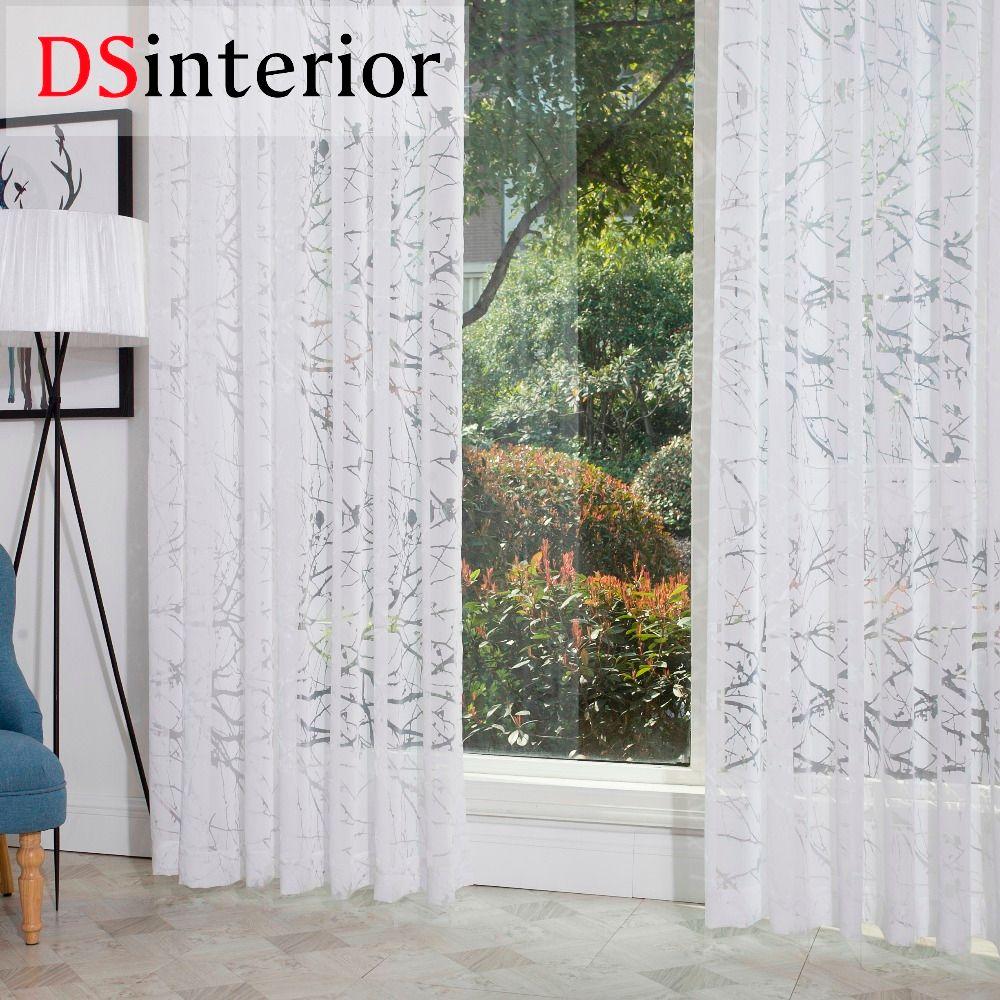 DSinterior moderne style burnout sheer rideau