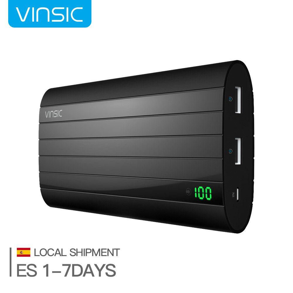 (Navire d'espagne) Vinsic IRON P6 20000 mAh double Port USB batterie externe chargeur de batterie externe pour iPhone 8 Plus Samsung S9