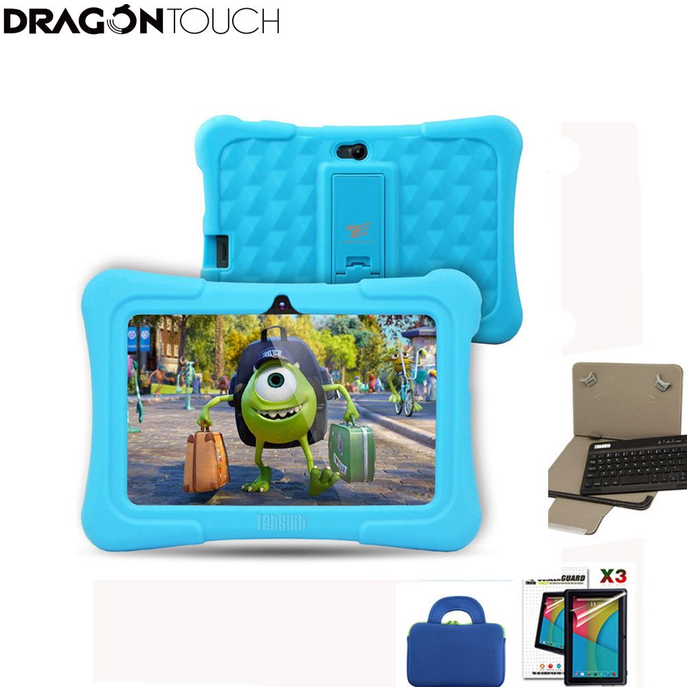 DragonTouch Blau Y88X Plus 7 zoll Kinder Kinder Tabletten Quad Core Android 5.1 + Tablet tasche + 3 stücke Screen Protector + tastatur für Kinder