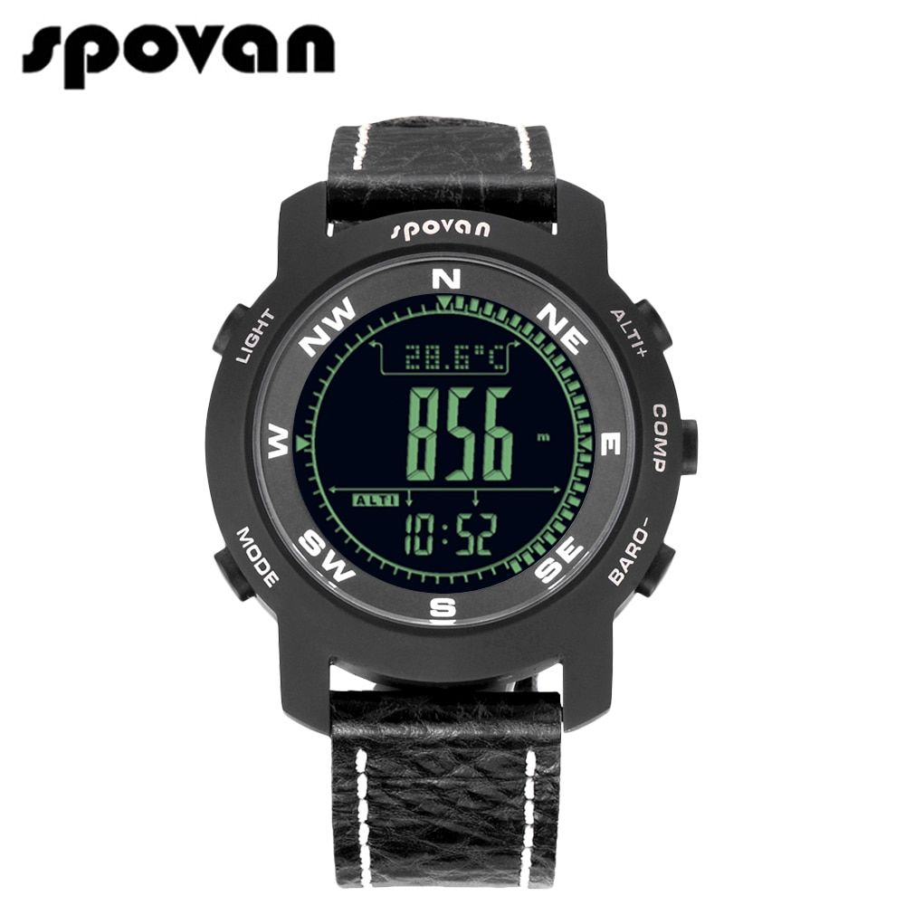 SPOVAN Classicical Bravo2b Men's Sports Watches, Sapphire Crystal Mirror, Genuine Leather Band Collection Edition