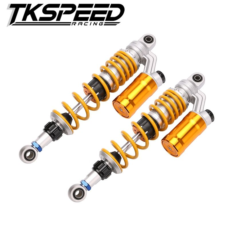 1XPair 350mm/12.5'' Motorcycle modified Adjust damping Nitrogen Shock Absorbers Rear Suspension For Scooter BWS all