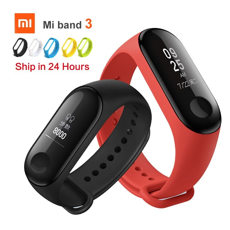 Original Xiaomi Mi Band 3 Smart miband3 Bracelet Heart Rate Fitness Watch 0.78 inch OLED Display 20 Days Standby band2 Upgrade