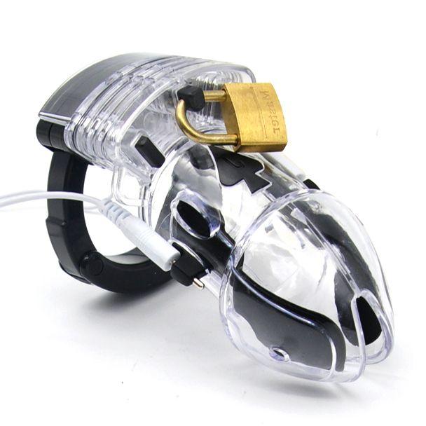 электростимулятор целомудрие насадка на члена мужской пояс верности мужской секс игрушки для взрослых электрошокер пояс целомудрия electro ...