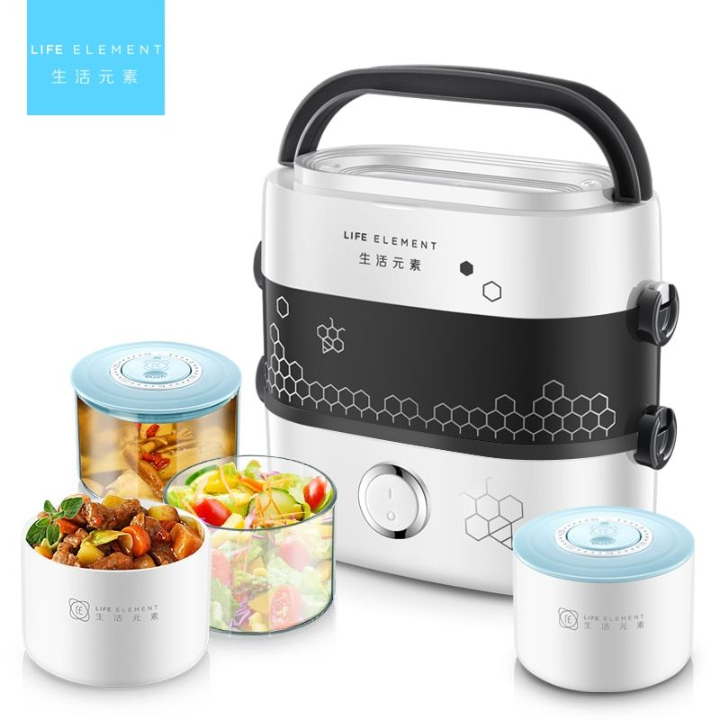 Electric Lunch Box Small Lunch Box Rice Cooker Cooking Appliance Thermal Lunch Box Hot Dish Cooking Rice Hot Rice Cooker