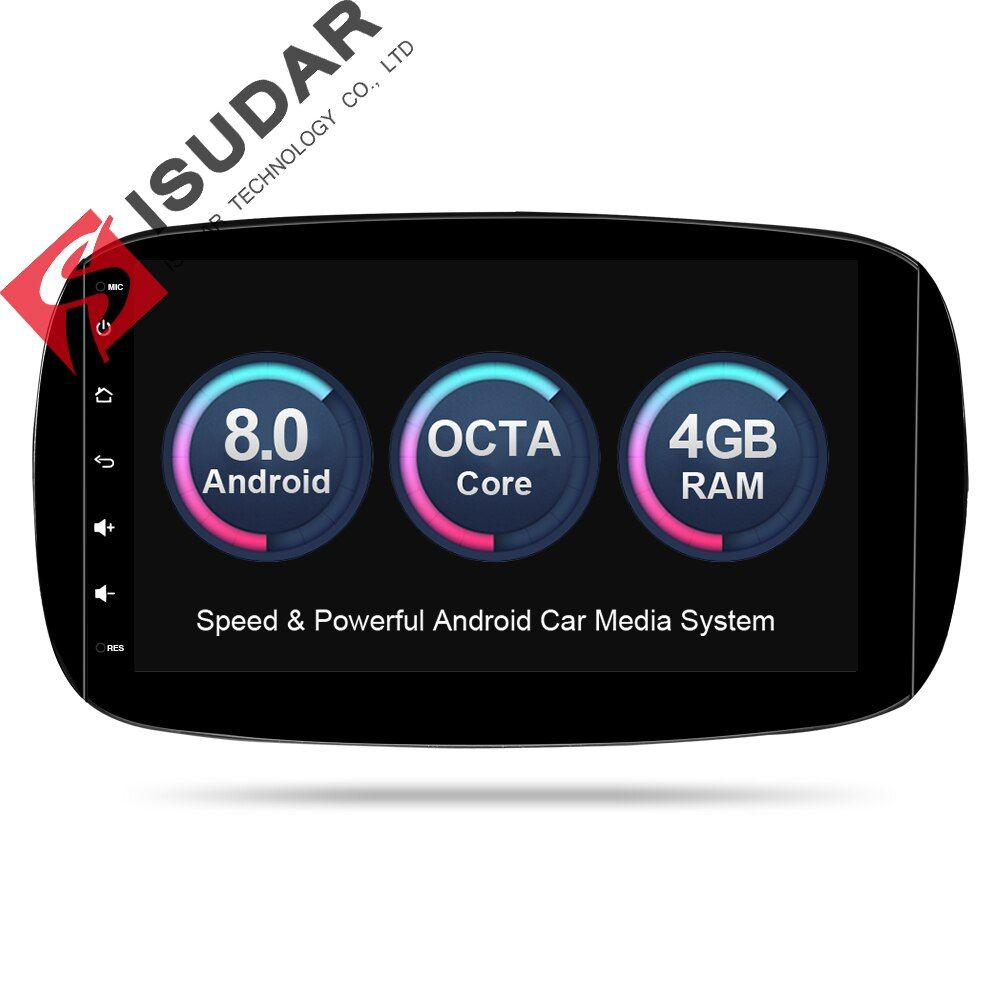 Isudar Auto Multimedia-Player Auto Radio GPS Android 8.0 Für Mercedes/Benz/SMART 2016 OBD2 Bluetooth USB DVR Hinten ansicht Kamera TUPFEN