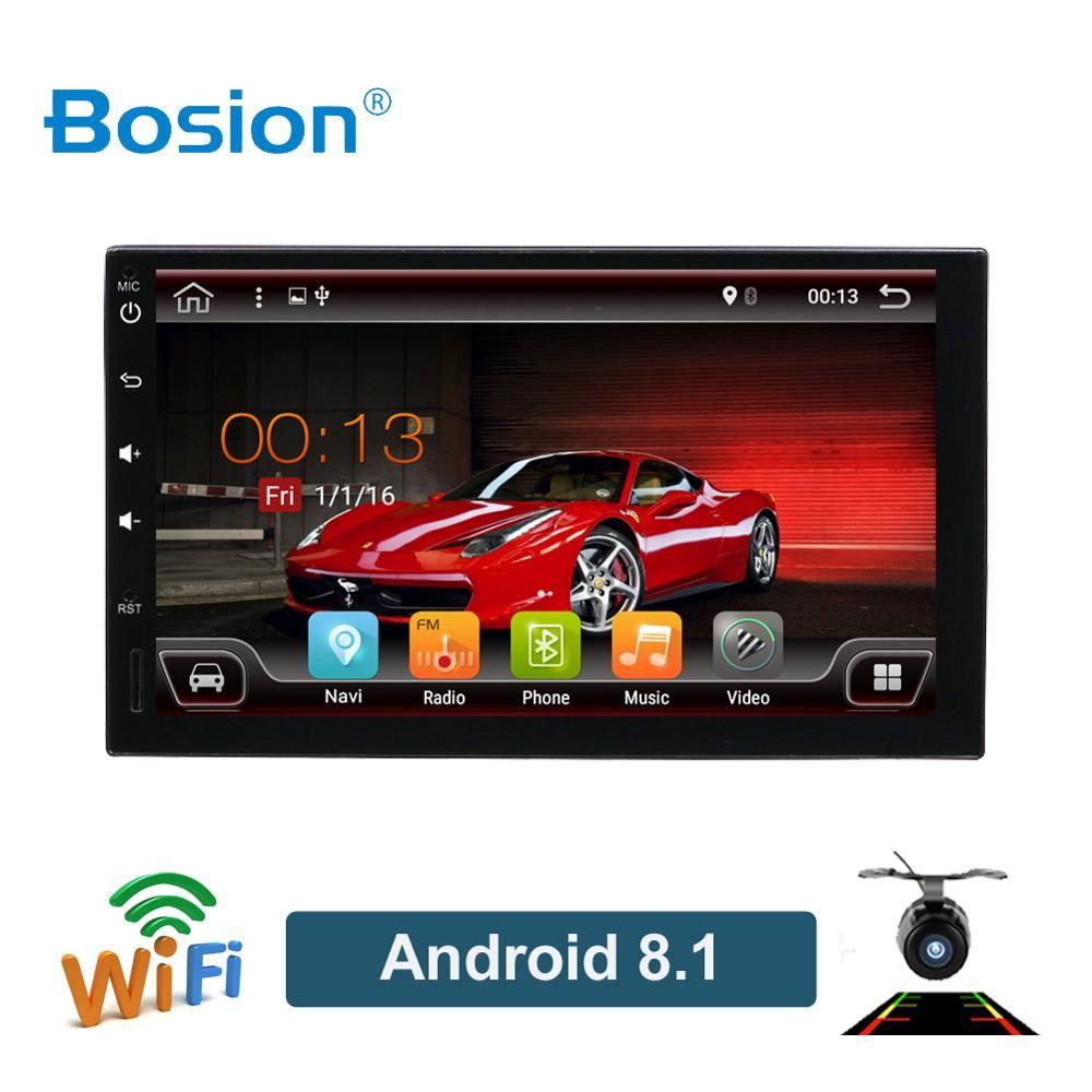 Bosion 2 din autoradio gps android 9.0 voiture stéréo lecteur cassette enregistreur radio Tuner GPS Navigation RDS SWC WIFI BT quad core