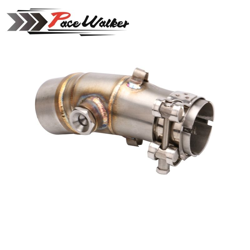 A middle connect for kawasaki ER6N Motorcycle Exhaust Pipe Muffler Escape Connecting Pipe Front Link Pipe Moto Mid Pipe
