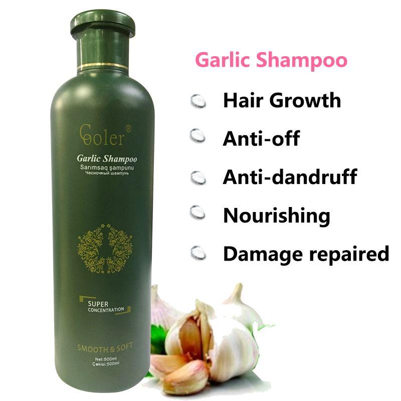 Ail cheveux shampooing croissance des cheveux nourrissant Anti pelliculaire shampooing soins professionnels 500 ml livraison gratuite