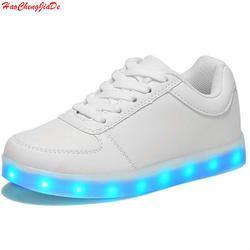 LED luminoso sneakers USB carga niños luz LED niños Zapatos con niños casual Niños y Niñas zapatos enfant
