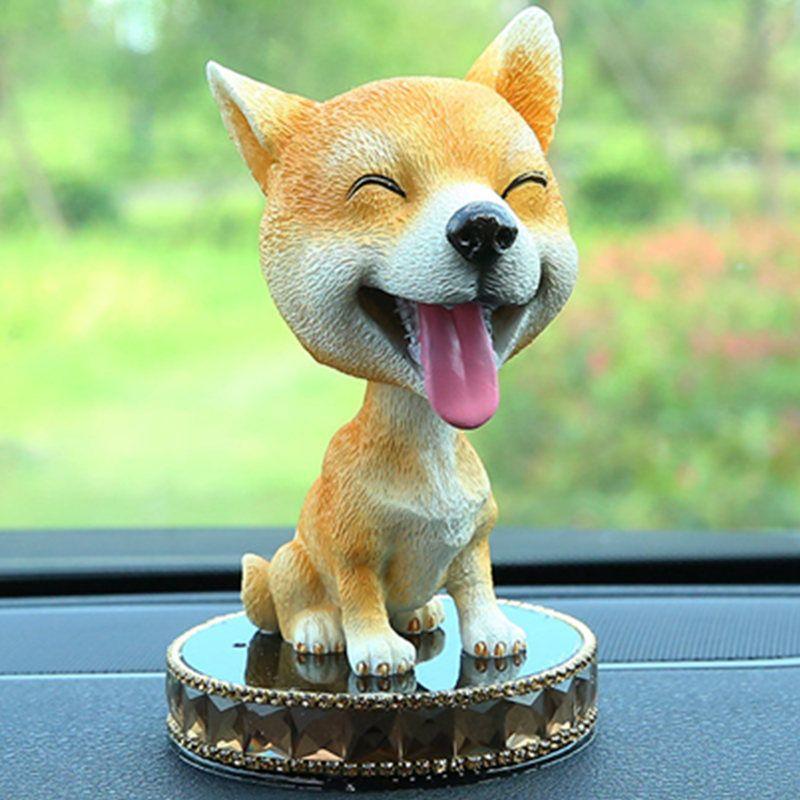 Cute Funny Car Dog Shake Head Toy Dolls Simulation Japanese Akita Husky Heikeji Gundog Chihuahua Bulldog Haba Dog Auto Ornaments