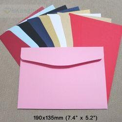 50 pcs 190x135mm Couleur Enveloppes Invitation Cadeau Enveloppe 120gsm Plaine/Perle Papier Enveloppe