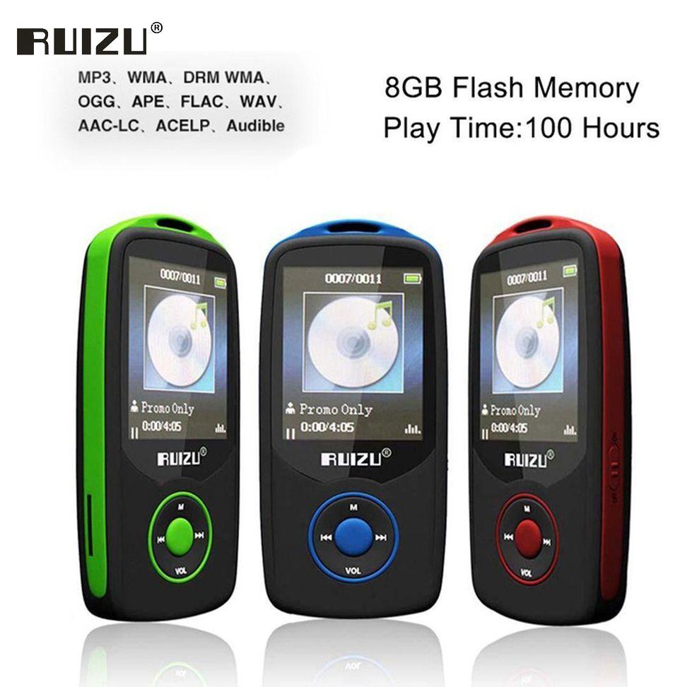 Ruizu X06 Lossless Flac Portable Hifi Digital Sport Audio Screen Mp 3 Music Mp3 Player Bluetooth With Headphone 8GB Radio FM TF