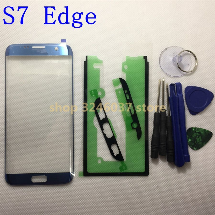 Replacement Outer Glass For samsung galaxy s7 Edge G935 G935F LCD Touch Screen Front Glass Outer Lens + Adhesive tools