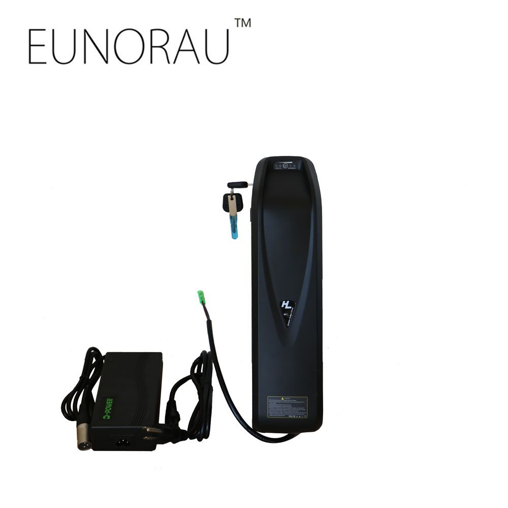 Free shipping ebike 52V14Ah 18650 cells Hailong water bottle down tube battery with USB charing port