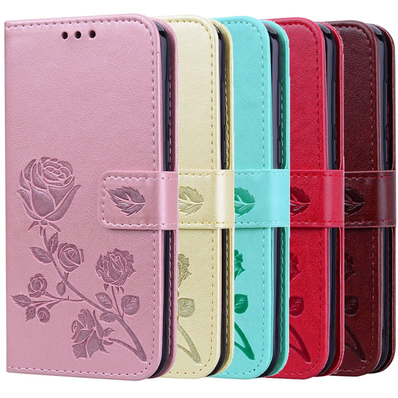 Cases For Huawei Y5 2018 Leather Flip Y5 Prime 2018 Cover For Huawei Y6 2018 5.7