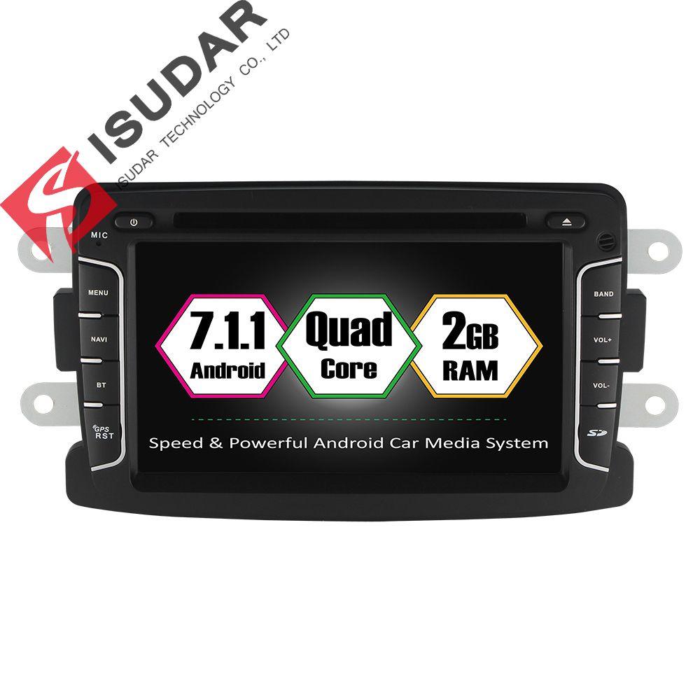 Isudar Car Multimedia player Android 7.1.1 Autoradio 2 Din For Dacia/Sandero/Duster/Renault/Captur/Lada/Xray 2 Logan 2 RAM 2G
