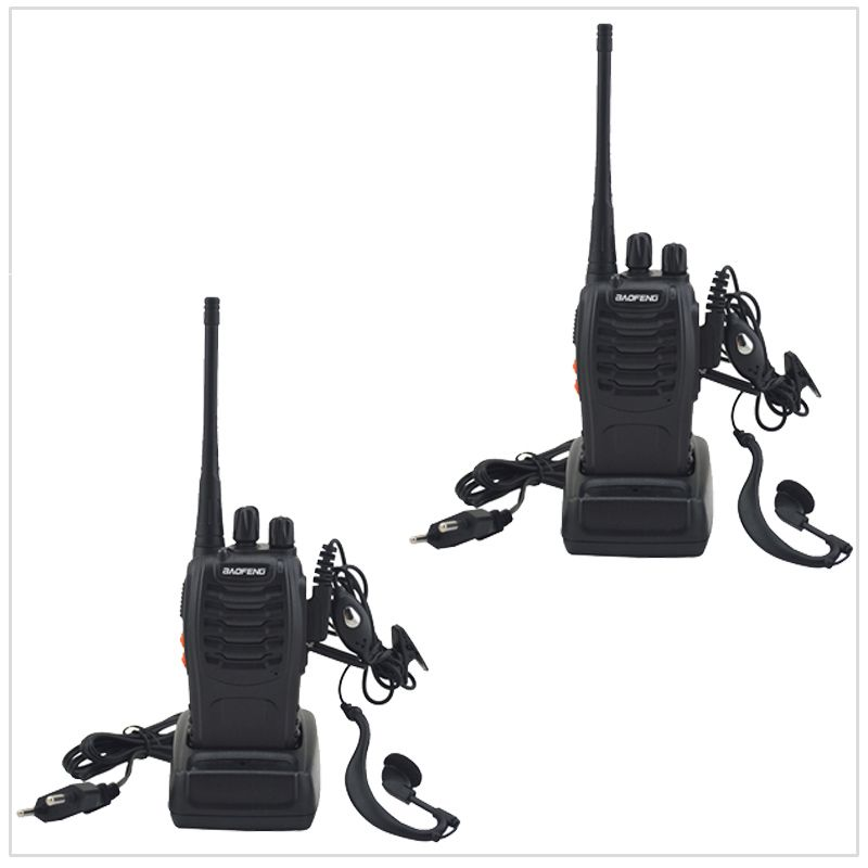 Paired Package 2pcs/Lot Baofeng Walkie Talkie Two way Radio BF-888S UHF 400-470MHz 16CH Portable Two-way Radio with Earpiece