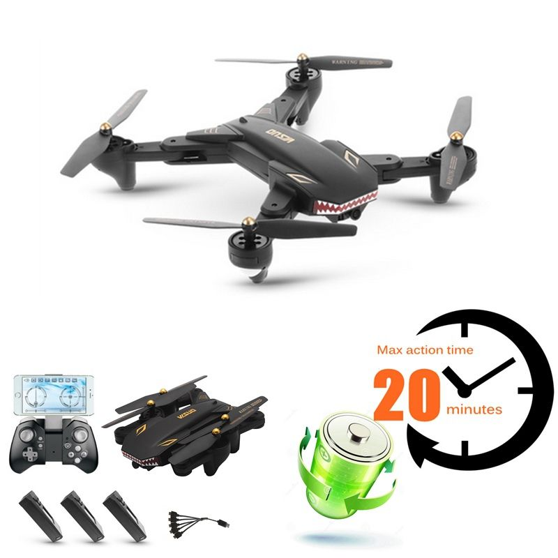 Long Time Flying Camera Drones With Camera Fpv Quadcopters Remote Control Toys Rc Helicopter Vs Visuo Xs809w Xs8090hw Drone