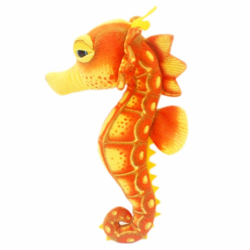 JESONN réaliste animaux marins en peluche peluche cheval de mer jouets pour les cadeaux d'anniversaire des enfants, 39 CM